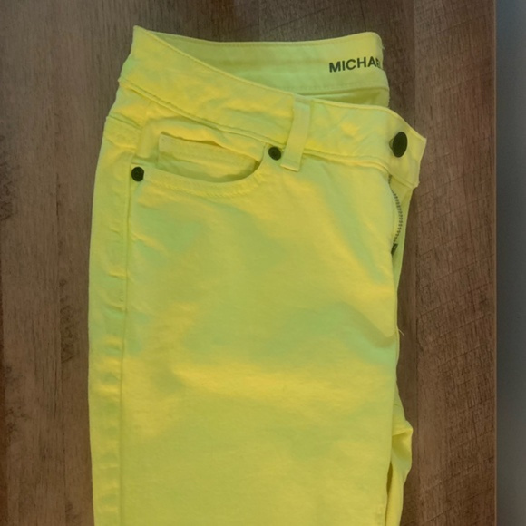 Michael Kors Denim - Michael Kors Skinny Neon Yellow Jeans